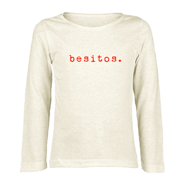 Besitos - Red - Organic Long Sleeve Tee