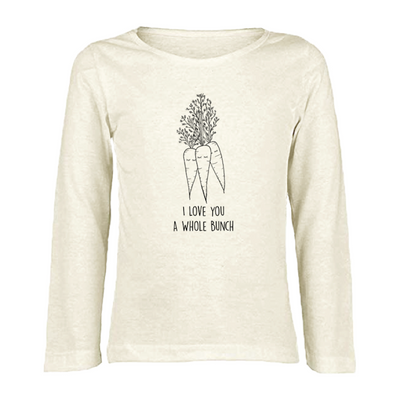 I Love You A Whole Bunch Carrots - Organic Long Sleeve Tee