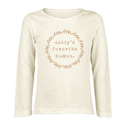 Daddy's Favorite Human - Organic Long Sleeve Tee