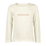 Peanut - Organic Long Sleeve Tee