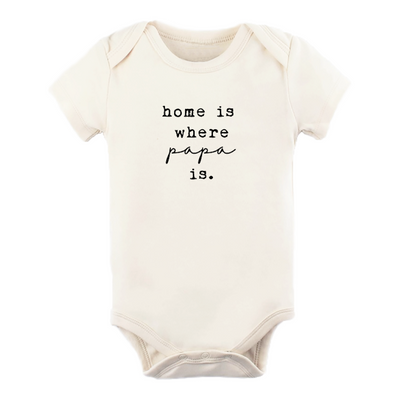 Home Is Where Papa Is - Organic Bodysuit