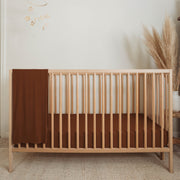 Bamboo Fitted Crib Sheet - Chestnut