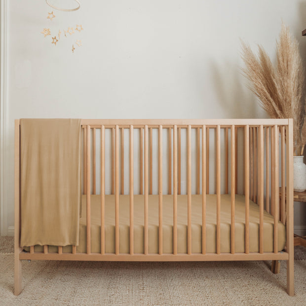 Bamboo Fitted Crib Sheet - Clay