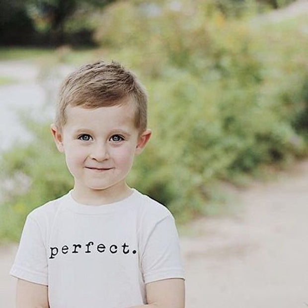 Tenth and Pine's perfect design made of the softest organic cotton in the USA. This modern and timeless piece is the perfect gender neutral tee for every girl and boy.