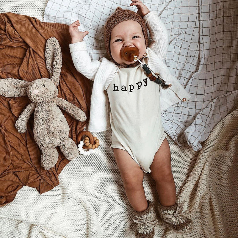 Happy - Organic Bodysuit