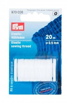 Prym Elastic Sewing Thread, 20m long and 0.5mm wide