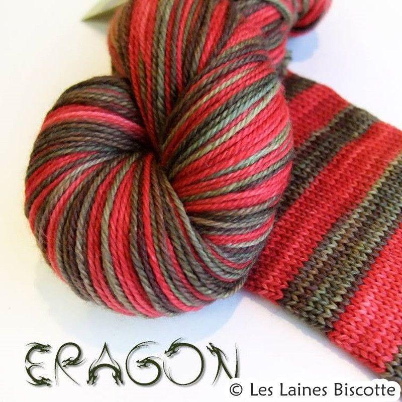 Biscotte Yarns, Bis-Sock, Self-Striping, 85% Merino Superwash, 15% Nylon, #1 Fingering