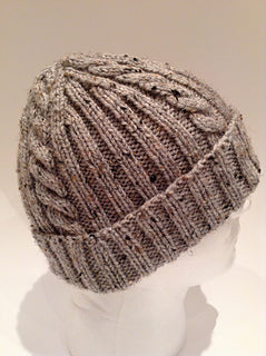 Ribs 'n Cables Beanie by Anne Gagnon Kit