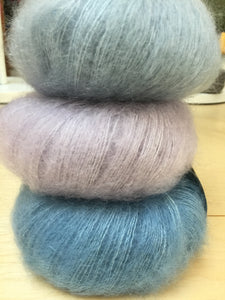 Drops Kid-Silk, 75% SuperKid Mohair, 25% Silk, #0 Lace Weight