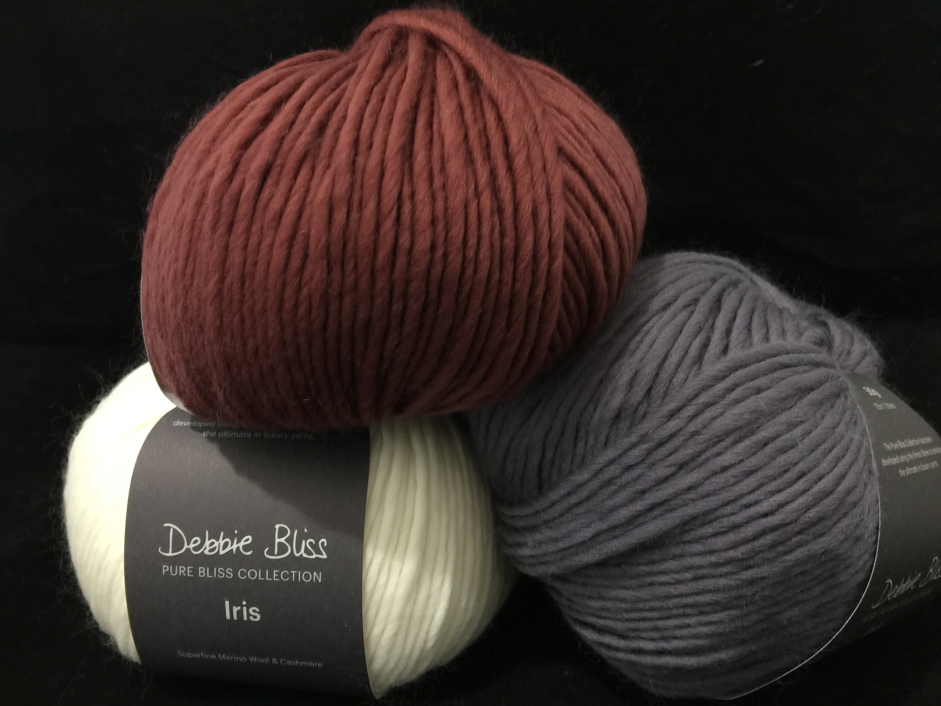 Debbie Bliss, Iris, 95% Wool, 5% Cashmere, #4 Worsted Weight
