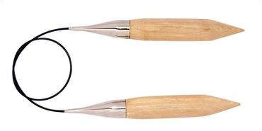 "Knitter's Pride Basix Birch, 40""/100cm Fixed Circular Needles"