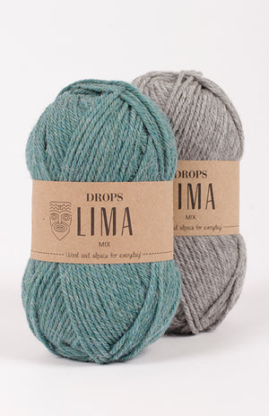 Drops Lima,  #3 DK, 65% Wool and 35% Superfine Alpaca