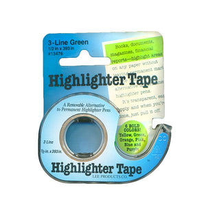 "Highlighter Tape in Dispenser, 12""x393"""