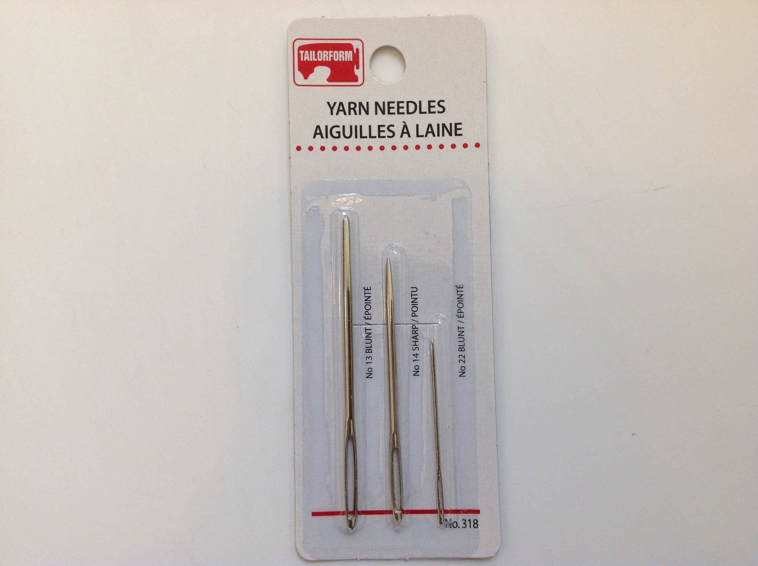Yarn Needles, Taylorform