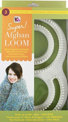 Authentic Knitting Board - Plastic Afghan Loom, KB8000