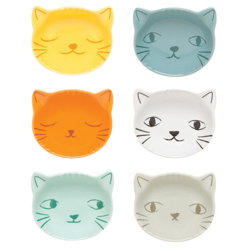 "Pinch Bowl Set of 6, ""Purrfect"", Danica Studio"