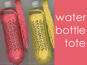 Knitted Hemp Water Bottle Tote Kit