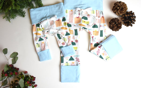 Shop holiday grow-with-me leggings by Bear and Bunny co