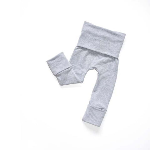Heather Grey grow-with-me cloth diaper pants by Bear & Bunny Co.