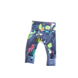 Citrus Berry girls toddler baby leggings - grow with me handmade by Bear & Bunny Co.
