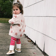 Cranberry Stripe Leggings - TODDLER