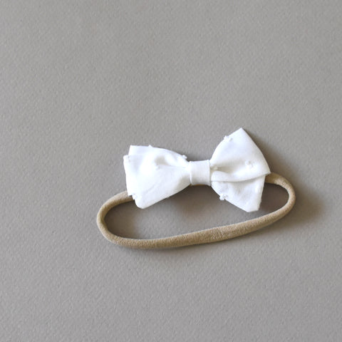 Swiss Dot Bow - Clip or Headband