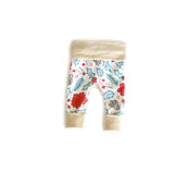 Holly and Pine Holiday Baby grow-with-me leggings by Bear & Bunny Co.