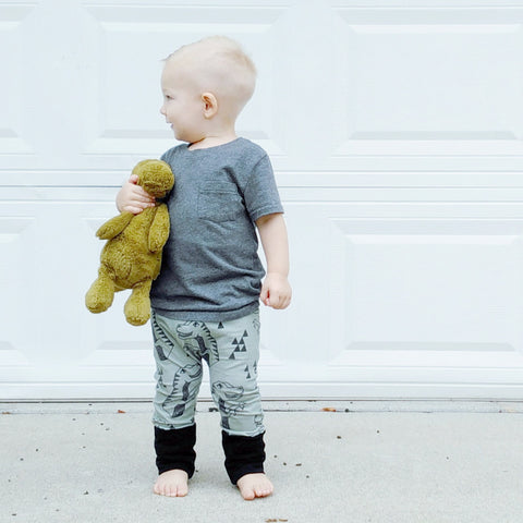 Best-selling Olive T-Rex grow with me leggings - maxaloones for toddlers