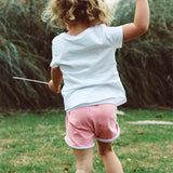 SALE! Girls Rose Pink grow-with-me shorties by Bear and Bunny Co.