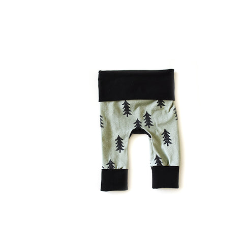 Nature Boy Leggings - grow with me newborn pants from Bear and Bunny Co.
