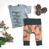Copper Pine winter boys grow with me baby leggings by Bear and Bunny Co.