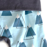 Powder Days snow mountain grow with me toddler leggings by Bear and Bunny Co