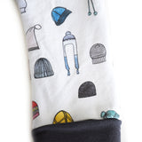 Ski Bum winter hat grow with me toddler leggings by Bear & Bunny Co.