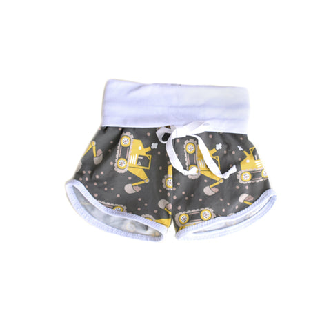 SALE! Big Digger newborn baby grow with me shorties by Bear & Bunny Co.