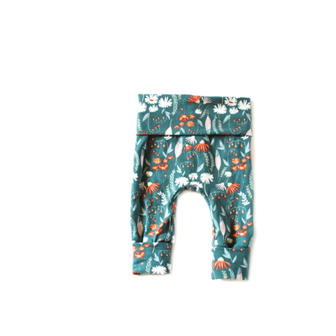 Winter Floral Leggings - NEWBORN