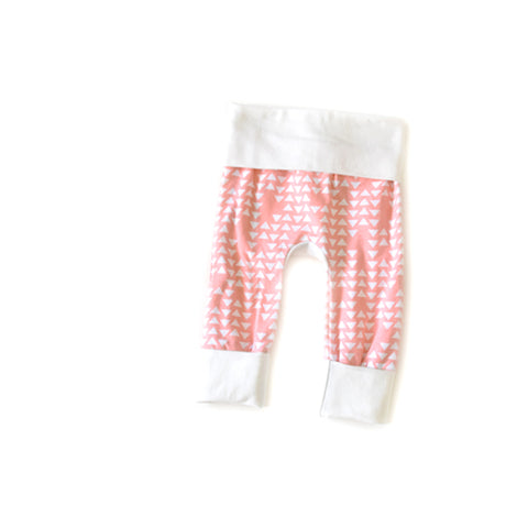 coral triangle geometric newborn baby grow with me leggings