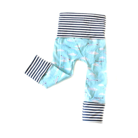 Jetsetter Airplane toddler grow with me baby leggings