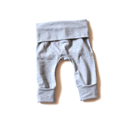 Heather Grey grow with me pants for baby