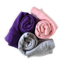 Best selling solid color maxaloones in pink, purple and grey handmade by Bear and Bunny co