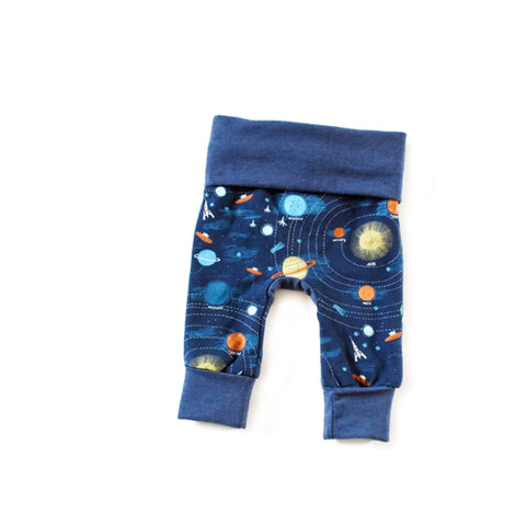 Supernova outer space grow with me newborn baby leggings