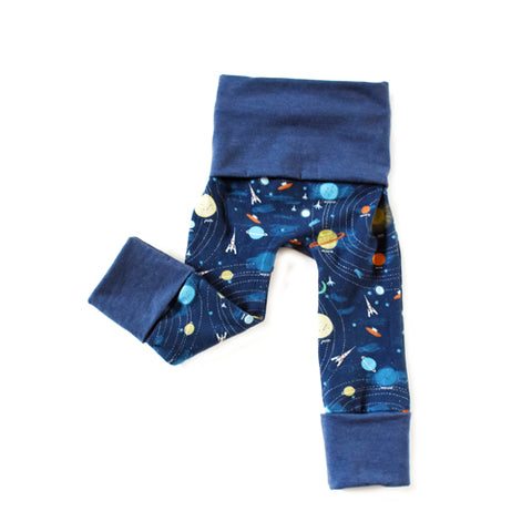 Supernova outer space grow with me toddler baby leggings