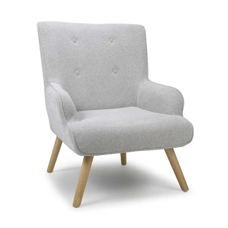 Hawksmoor Cinema Flax Effect Silver Grey Armchair