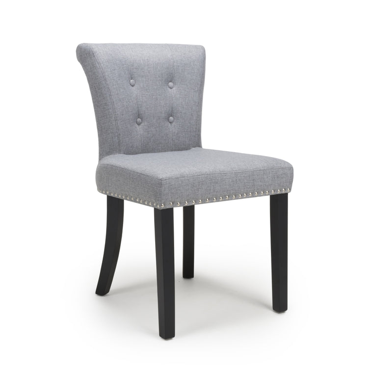 Hawksmoor Sandringham Linen Effect Silver Grey Accent Chair (Pair)