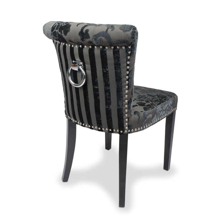 Shankar Charcoal Baroque Velvet Chair