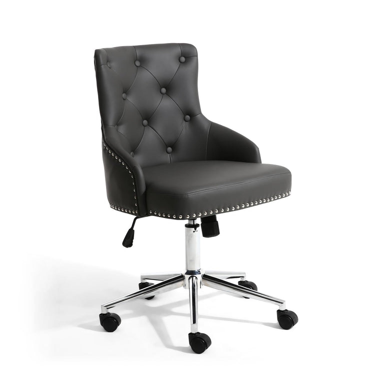 Hawksmoor Rocco Leather Match Graphite Grey Office Chair
