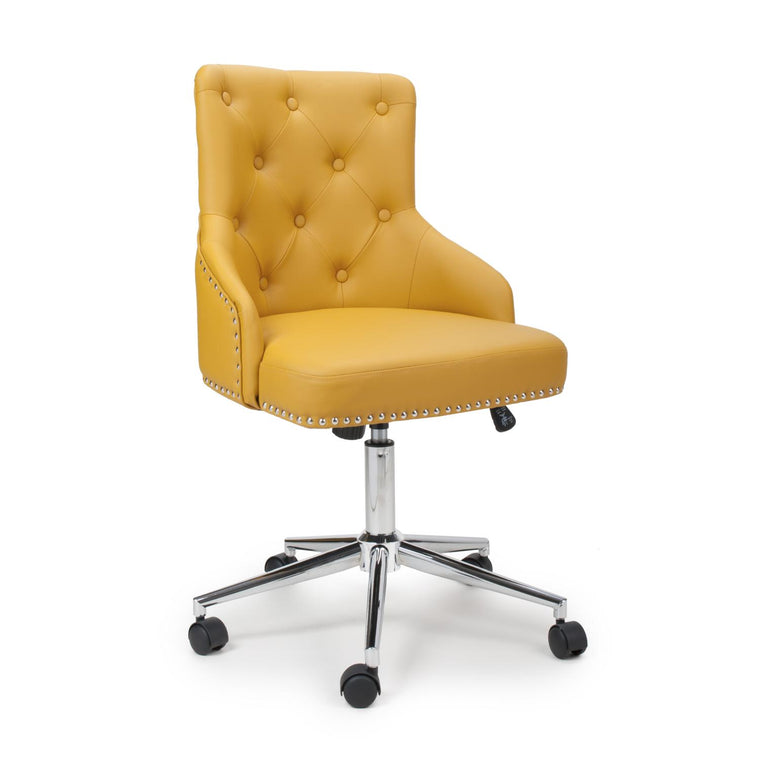Hawksmoor Rocco Leather Match Yellow Office Chair
