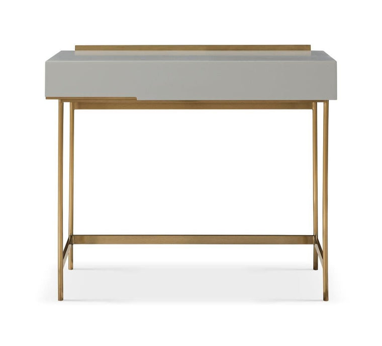 Gillmore Space Alberto Dressing Table Grey With Brass Accent