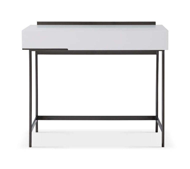 Gillmore Space Alberto Dressing Table White With Dark Chrome Accent