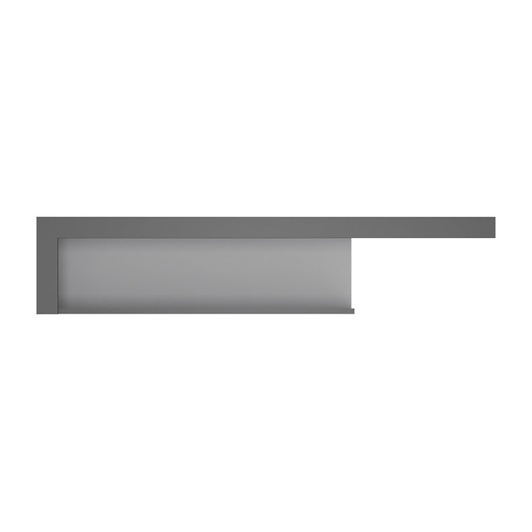 Axton Woodlawn 130cm Wall Shelf In Platinum/Light Grey