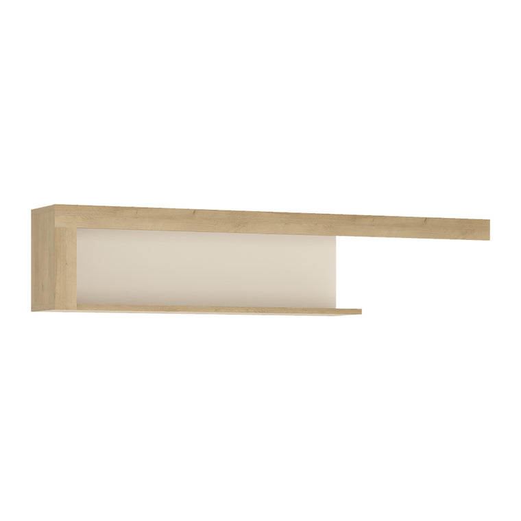 Axton Woodlawn 130cm Wall Shelf In Riviera Oak/White